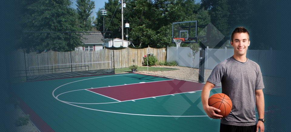 21 X 25 Backyard Basketball Courts Duraplay Sports