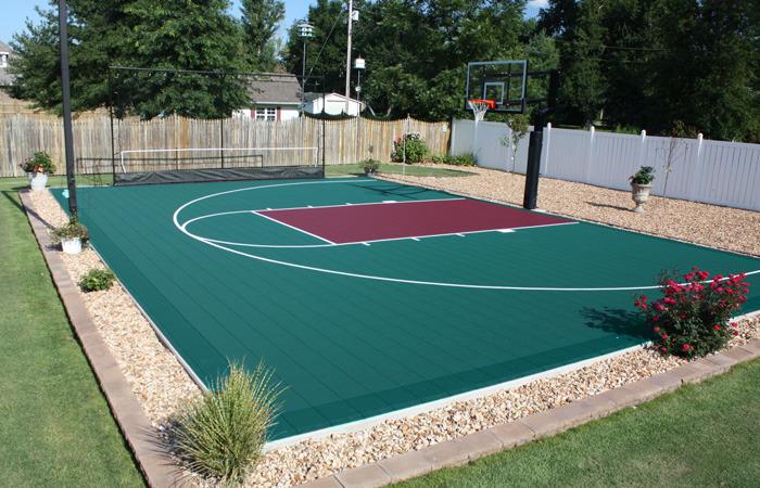 Duraplay Sport Backyard Basketball Courts