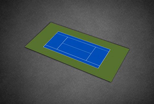60 X 120 Plastic Court Tile Tennis Court Kits Duraplay Sports