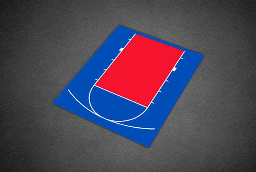 Basketball 12 Court Dimensions 21' x 25' Backyard Bas...